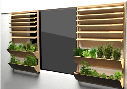 les potagers coulissants ou quand des fraises pousseront sur nos fen tres. Black Bedroom Furniture Sets. Home Design Ideas