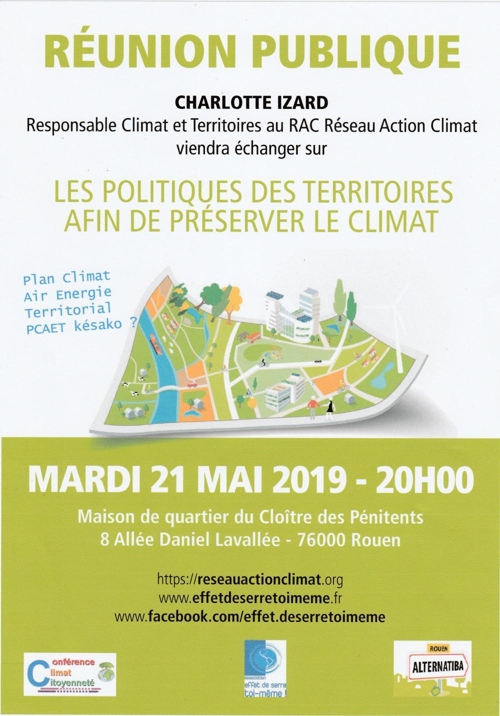 Les alternatives territoriales pour sauver le climat, rencontre-débat à Rouen (Seine-Maritime)