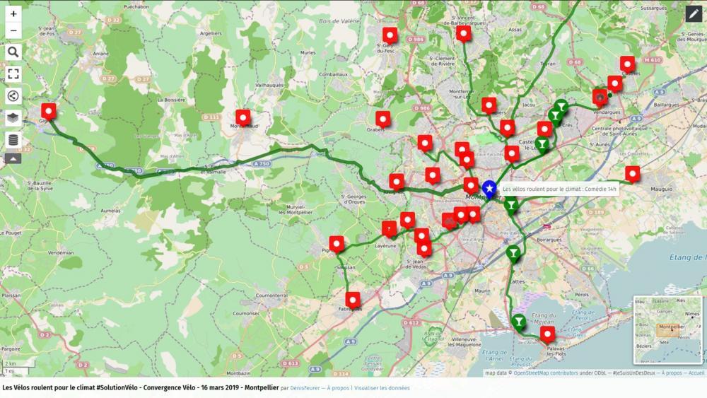 «Les vélos roulent pour le climat», à Montpellier (Hérault)