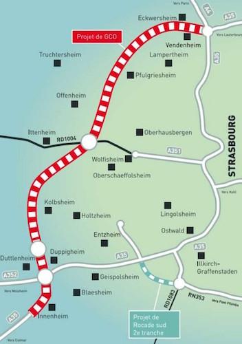 Le contournement routier de strasbourg encore un projet for Chambre de commerce strasbourg