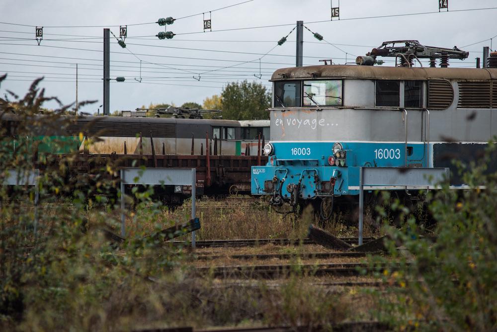 Datant épave de train