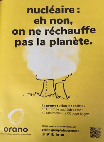 L'électricité nucléaire va t'elle sauver la planète ?  Orano_pub-femina