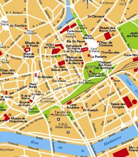 Plan Ville De Nantes