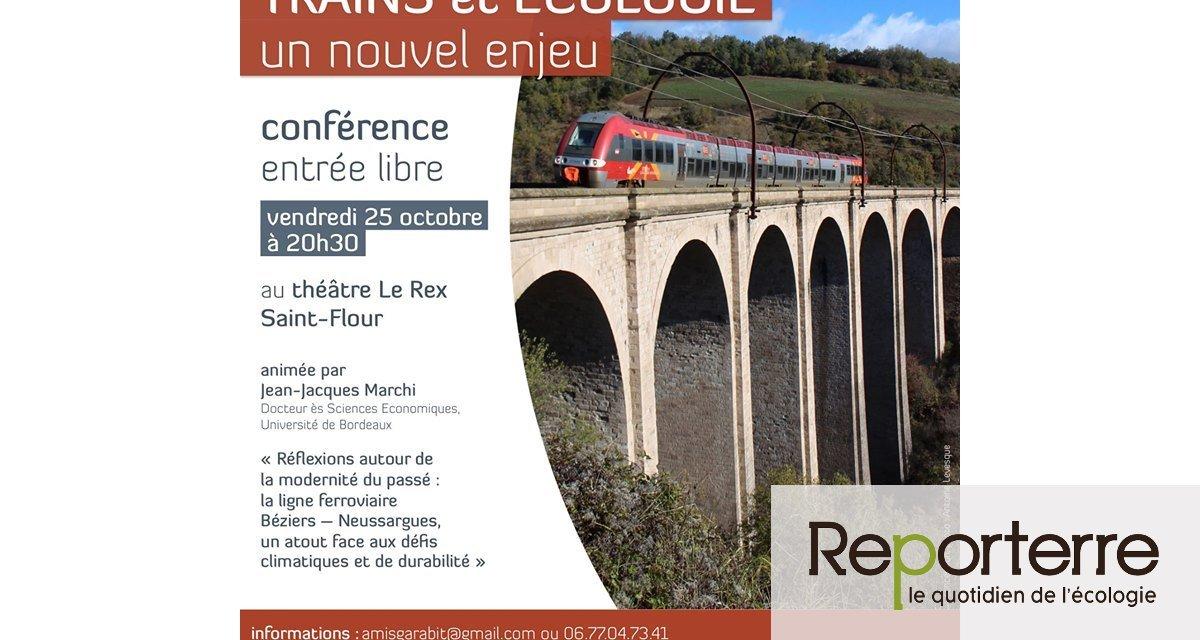 « Train et écologie : un nouvel enjeu », conférence à Saint-Flour (Cantal)