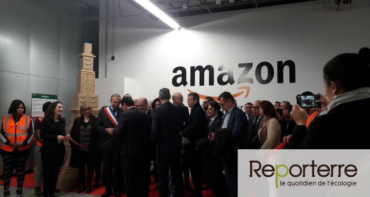 Des opposants à Amazon ont perturbé l'inauguration d'un entrepôt