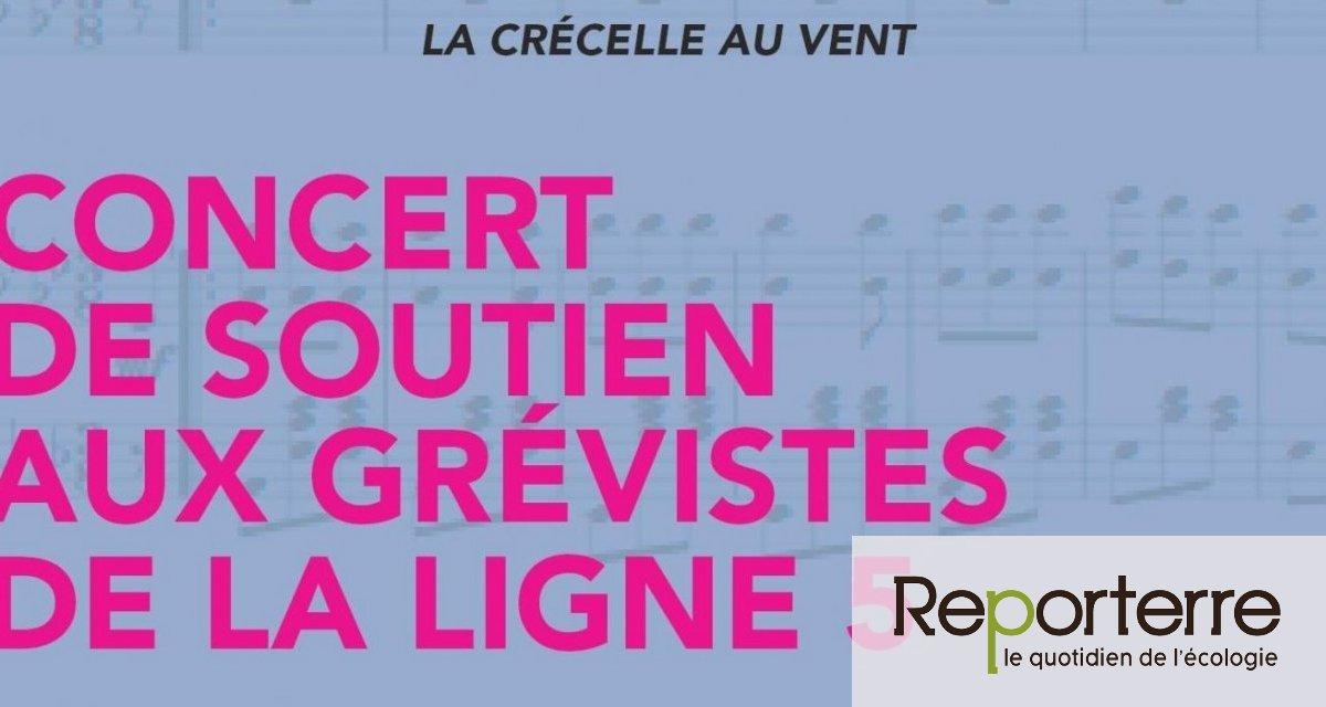Concert de soutien aux grévistes des lignes de métro 5, 7 et 7bis à Paris