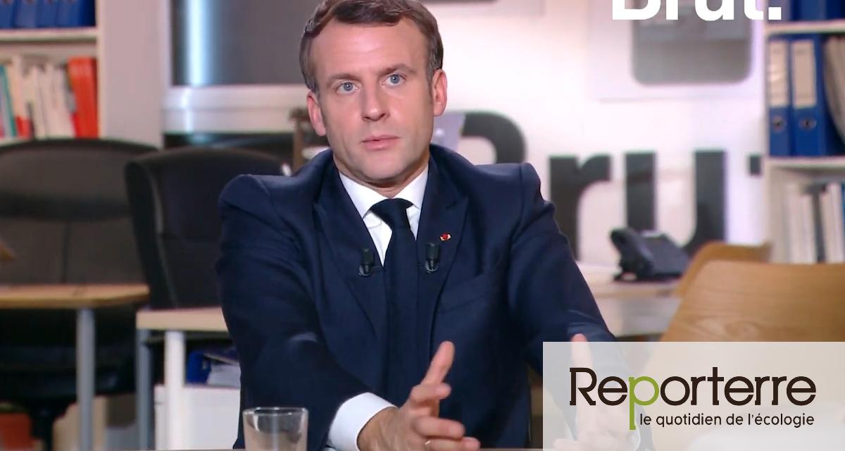 Emmanuel Macron se présente sans rire comme un champion de l'écologie