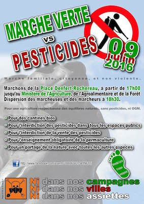 Marche verte pour une interdiction plus rapide des pesticides, à Paris