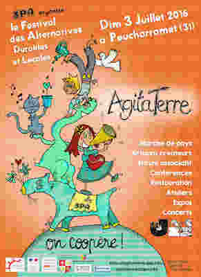 "AgitaTerre<small class=""fine""> </small>! le festival des alternatives durables et locales, à Poucharramet (Haute-Garonne)"