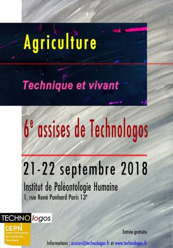 "«<small class=""fine""> </small>Agriculture, technique et vivant<small class=""fine""> </small>», assises de Technologos, à Paris"