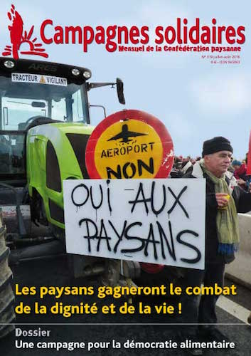 "Oui aux paysans<small class=""fine""> </small>!"