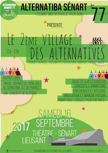 Village des alternatives, à Lieusaint (Seine-et-Marne)