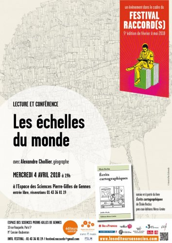 "Conférence-lecture «<small class=""fine""> </small>Les échelles du monde<small class=""fine""> </small>», à Paris"