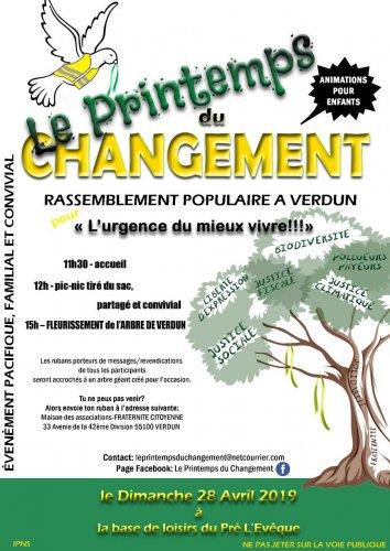 Le Printemps du changement, à Verdun (Meuse)