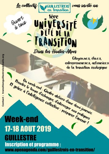 Université d'été de la transition, à Guillestre (Hautes-Alpes)