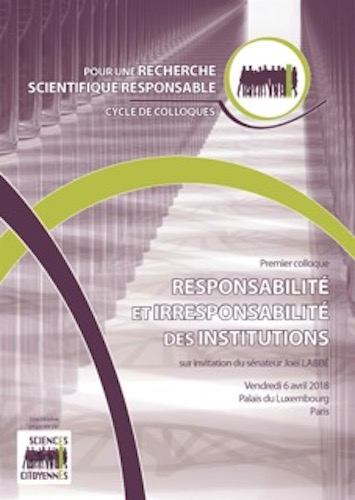 "Colloque «<small class=""fine""> </small>Responsabilité et irresponsabilité des institutions<small class=""fine""> </small>», à Paris"