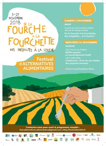 Festival d'alternatives alimentaires, à Orléans (Loiret)