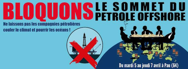 Rassemblement contre le sommet du pétrole offshore à Pau (Pyrénées-Atlantique)