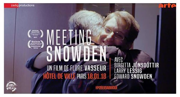 Meeting Snowden : Projection et rencontre avec la réalisatrice du documentaire, à Paris