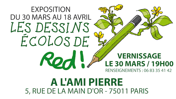 "Red<small class=""fine""> </small>! expose ses dessins écolos à Paris"