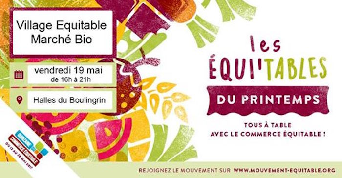 Fête les Équi'tables du printemps, à Reims (Marne)