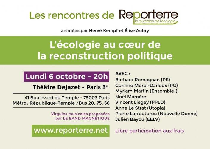 """<span class=""""caps"""">RENCONTRE</span> <span class=""""caps"""">DE</span> <span class=""""caps"""">REPORTERRE</span> - L'écologie au coeur de la reconstruction politique"""