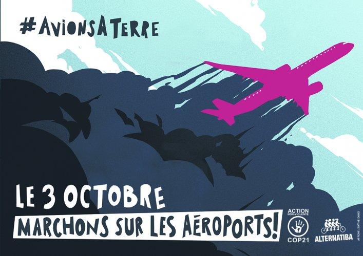 """Le 3octobre, marchons sur les aéroports<small class=""""fine d-inline""""></small>!"""