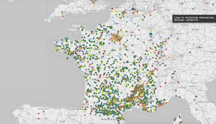 La carte des utopies concrètes pour que les alternatives se rencontrent