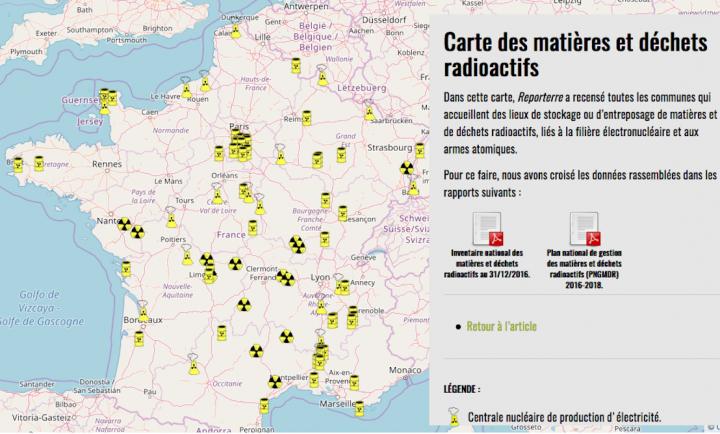"""<span class=""""caps"""">CARTE</span> <span class=""""caps"""">EXCLUSIVE</span> — Les déchets radioactifs s'entassent partoutenFrance"""