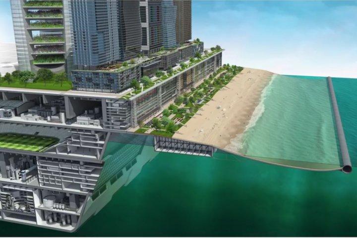 Des milliardaires rêvent d'îles artificielles pour échapper au réchauffement