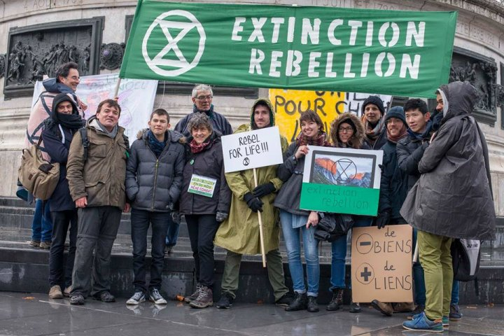 Contre l'effondrement, Extinction Rebellion prône la désobéissance civile