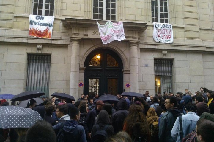 Intervention de la police à la Sorbonne — Réforme de l'université