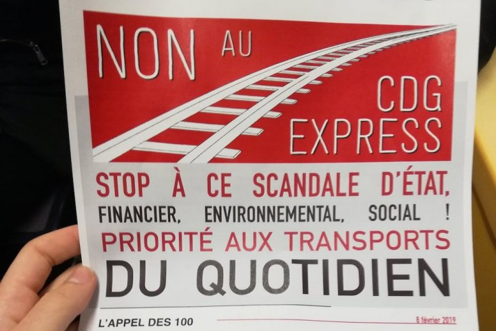 "L'opposition grandit contre le «<small class=""fine d-inline""> </small>train des riches<small class=""fine d-inline""> </small>» Charles-de-Gaulle Express"