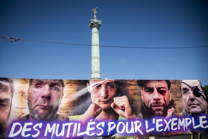 """Marche des mutilés: «<small class=""""fine""""></small>Le <span class=""""caps"""">LBD40</span> est devenu une arme de terreur politique<small class=""""fine""""></small>»"""