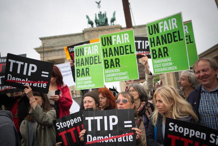 Les citoyens allemands vent debout contre le traité Tafta