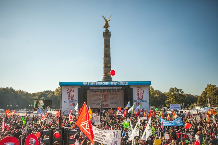 La manifestation contre le TAFTA à Berlin : du jamais vu depuis 2003