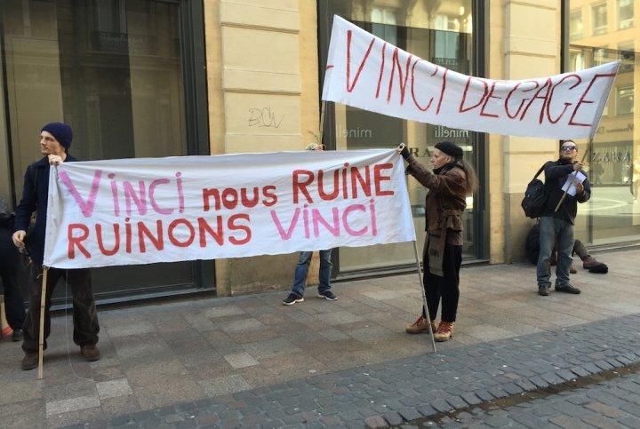 A Toulouse, des activistes ont lancé une campagne contre Vinci