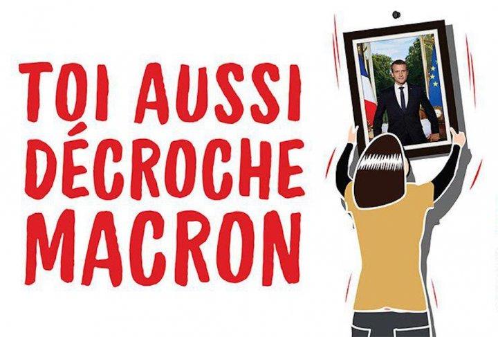 Face à l'irresponsabilité de M.Macron, décrochons ses portraits