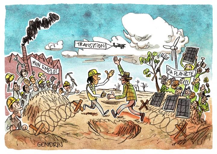 """Il n'y a pas à choisir entre emploi et écologie, selon un collectif d'<span class=""""caps"""">ONG</span> et de syndicats"""